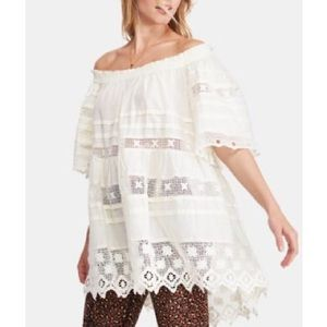 Free People Sounds Of Summer Tunic White Sz Large